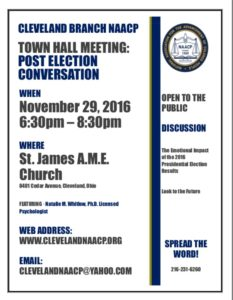 Town Hall Meeting: Post Election Conversation