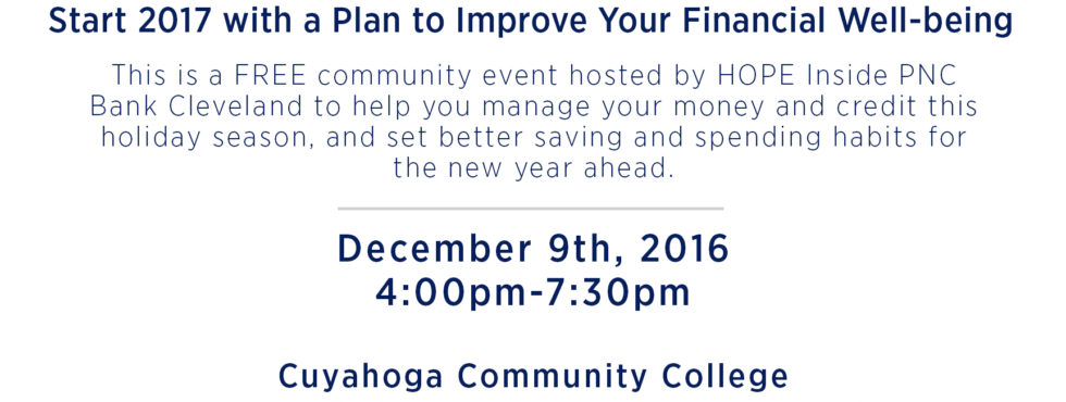 Operation Hope host a FREE Financial Well-being event on 12/09 4:00-7:30pm