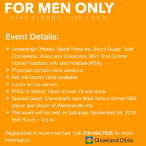FMO Men's Health Event @ Cleveland Clinic South Pointe Hospital